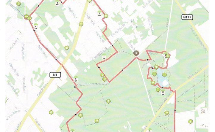 Eigen wandelingen van wandelclub Noordergouw in Brasschaat